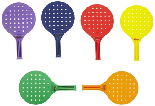 Review Of Sportime Global Games Paddle - 8 x 13 1/2 - Set of 6 Paddles - 6 Colors - Balls Sold Separ...