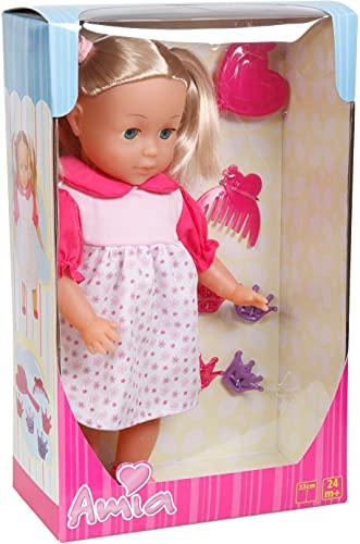 VEDES Großhandel GmbH - Ware 50104591 Amia Puppe mit Haar, 33cm, inklusive Zubehör