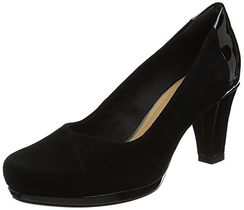 Clarks Chorus Carol, Zapatos de Tacón para Mujer, Negro (Black Combi), 39.5 EU