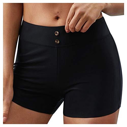 Mymyguoe Pantalones Cortos Mujer Deportivos Shorts Cintura Alta Elástica Cortos Deportivos para Levantamiento de Culo de Yoga Fitness Shorts 2021 Casual Verano Algodon Shorts