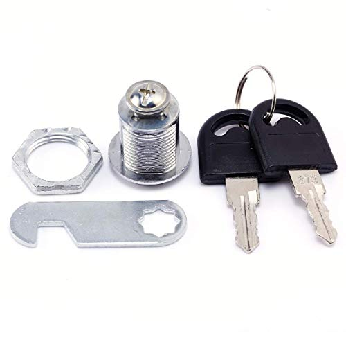 Loboo Idea Cam Lock File Cabinet Lock Cupboard Locks with Keys for Door Mailbox Drawer Tool Box, Keyed Different (1 Pack) (20mm Drawer Lock)