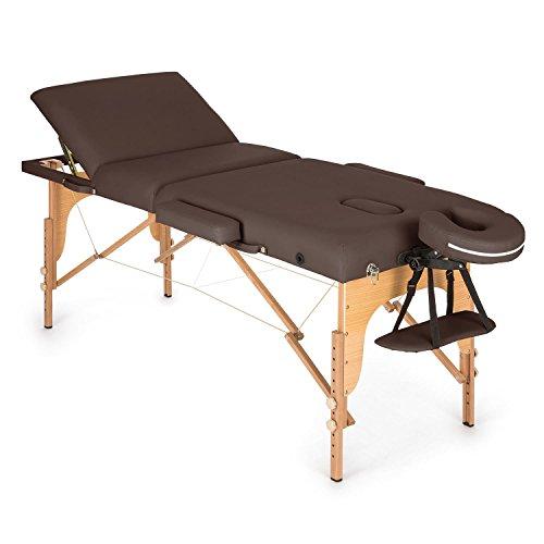 Klarfit MT 500, Massageliege, Massagetisch, Massagebank, 10-stufige Rückenlehne,...