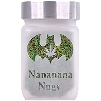 Stash Container Twisted420Glass Airtight Stash Jar - Smell Resistant Herb Container with Twist Tight Lid - Nananana Nugs Design