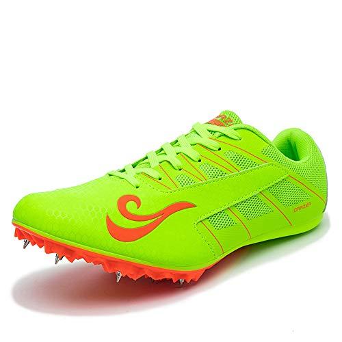 BETOOSEN Spikes Laufschuhe Sprint Schuhe Leichtathletik Mesh Atmungsaktiv Leicht Professionelle Sportschuhe (Jungen, Mädchen, Damen, Herren)