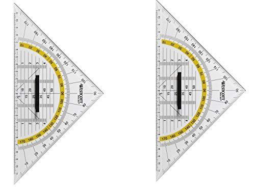 Preisvergleich Produktbild WESTCOTT E-10134 BP Geodreieck 25 cm Mit Griff
