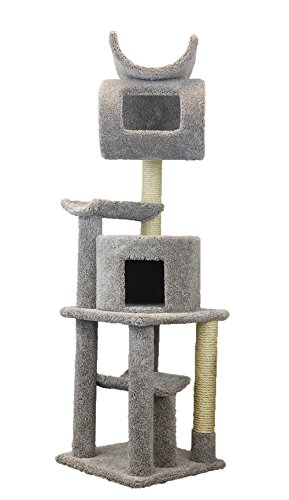 New Cat Condos Premier Cat Playstation, 72-Inch, Gray