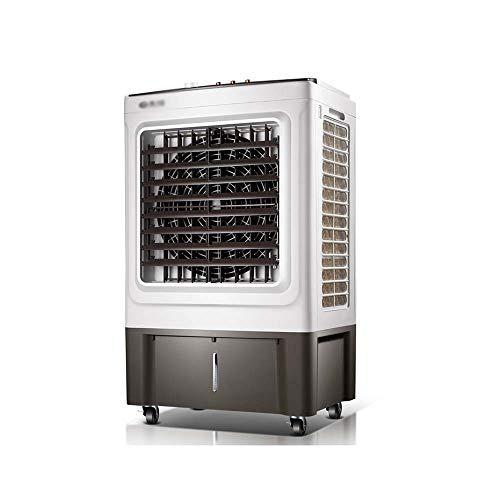 QFFL Ventilador del Aire Acondicionado, Gran Volumen de Aire Refrigerador de Aire Industrial Refrigerador de Aire por Evaporación Portátil con Función de Oscilación 3 Velocidades 50L Depósito de Agua