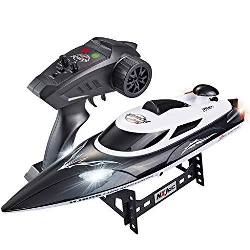 DEtrade RC Hochgeschwindigkeitsboot 35 km/h 200 m Steuerentfernung Schnelles Schiff RC-Bootsrennen Hohe Geschwindigkeit Ferngesteuertes Boot (Black)