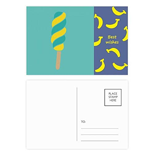 DIYthinker geel groen spiraal zoete ijs banaan anskaart ansichtkaart set dank kaart mailing kant 20 stks 5.7 inch x 3.8 inch Multi kleuren