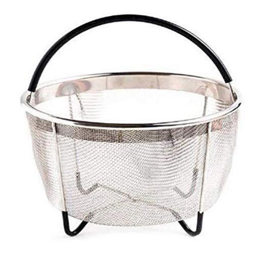Gesh Electric Pressure Cooker Pressure Cooker Accessories Quick Heat Steamer Basket Steel Mesh Basket 6 Quarts A