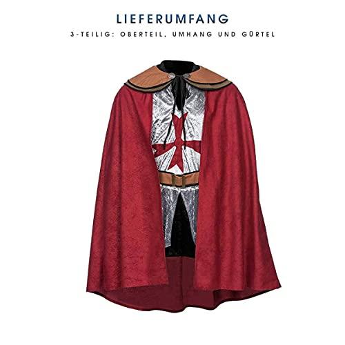 Kostümplanet® Ritter-Kostüm Herren Deluxe Tempel-Ritter Faschingskostüm Größe 56/58 - 6