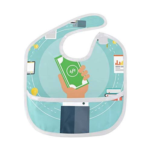 FANTAZIO geld Baby Bib Waterdichte Baby Drooler Bib Wasbaar pak voor 6-24 Maanden
