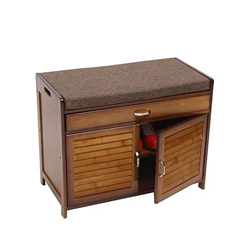 WJJ Zapatos Organizador Bambú Zapatero Moderna cajón hogar Banco de Zapatero Mueble Multifuncional Minimalista