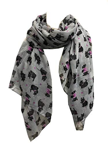 Pamper Yourself Now Grau-West Highland Terrier Hund-Entwurfs-Schal -Grey West Highland Terrier Dog Design Scarf