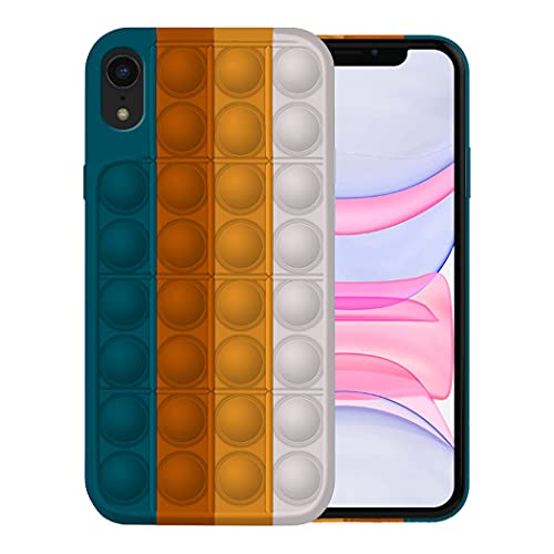 Fidget Toy Funda para iPhone XR Apple,Fidget Toy Pack iPhone XR Funda Silicona Antigolpes Pop It Fidget Toys Set Case (iPhone XR, 6)