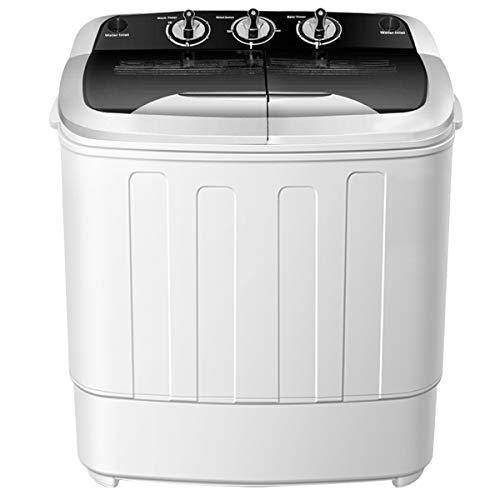 Clothes Washing Machines,SAFEPLUS Compact Mini Twin Tub Versatile Washing Machine with 8 lbs Washing &5 lbs Spin Dryer…