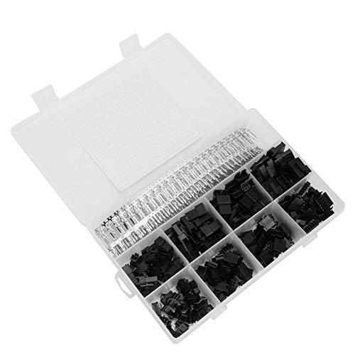 520 STUKS SM-connector met 2,54 mm raster, stekker en aansluiting, auto-connector, adapterassortiment-kit met doorzichtige kunststof doos