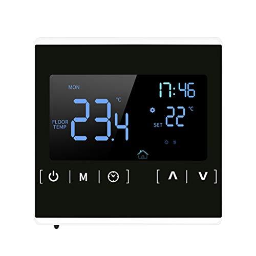 BSTQC Termostato inteligente con Wi-Fi, programable, para el hogar, para calefacción por suelo radiante, pantalla táctil clara, fácil de leer
