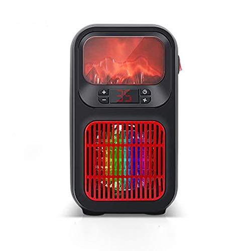 Wgwioo Mini Calentador Eléctrico, Calentador De Estufa De Chimenea Eléctrico, Chimenea Eléctrica Independiente con Control De Termostato, Efecto De Llama De Quemador De Registro 3D