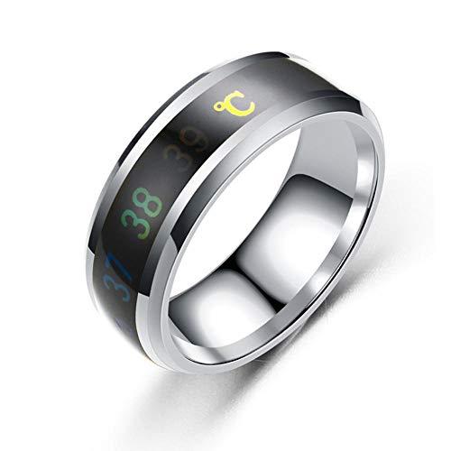 Temperatursensor für den menschlichen Körper, Temperaturüberwachungsring, intelligentes digitales Thermometer, intelligenter Ring zur Messung der Körpertemperatur, intelligenter Ring, Geschenkring