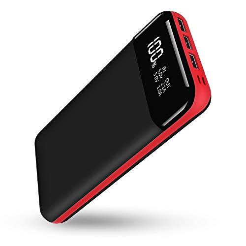 Power Bank Portable Charger Battery Pack Backup, 25000mAh External Phone Battery Charger with LCD Display, 2 Input 3 Output Compatible Almost Smartphone, Android Phone, Tablet and USB-Powered Device
