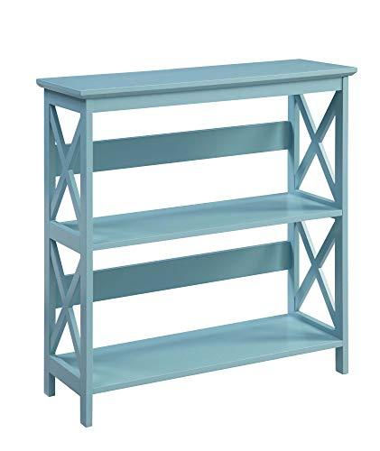Convenience Concepts Oxford 3 Tier Bookcase, Sea Foam
