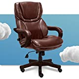 Serta Big and Tall Executive Office Chair with Wood Accents...