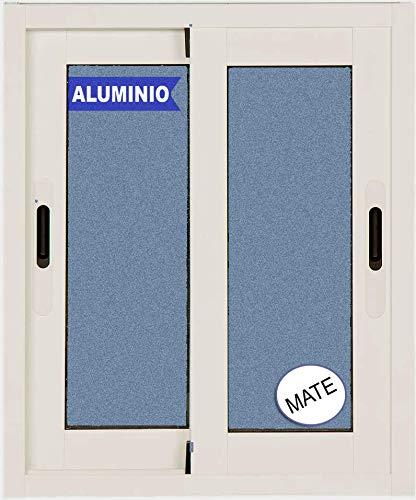 Ventana Aluminio Corredera 500 ancho x 600 alto 2 hojas cristal carglass (Climalit Mate)
