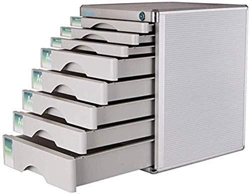 Bestand Kasten Lock Multi-Layer Kunststof Lade Type Office Opslag Archief Doos Kleur-Silver Gevoelige Vormgeving Volume 30x36x40.5cm Opbergdoos ZILVER