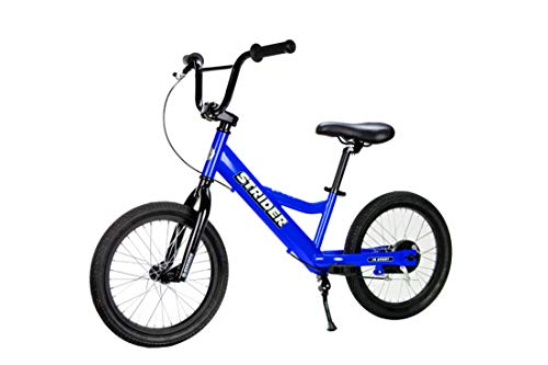 Strider - Youth 16 Sport No-Pedal Balance Bike, Ages 6 to 10 Years, Blue