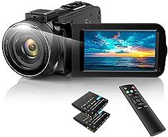 ACTITOP ビデオカメラ HDビデオカメラ デジタルビデオカメラ 3600万画素 HD1080P 16倍デジタルズーム 暗視機能 予備バッテリーあり リモコン付属 128GBSDカード(別売)サポート 日本語システム