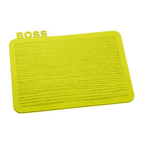 Koziol 3259582 Happy Boards Boss Planche à Découper Plastique Moutarde 16,9 x 22,7 x 0,3 cm