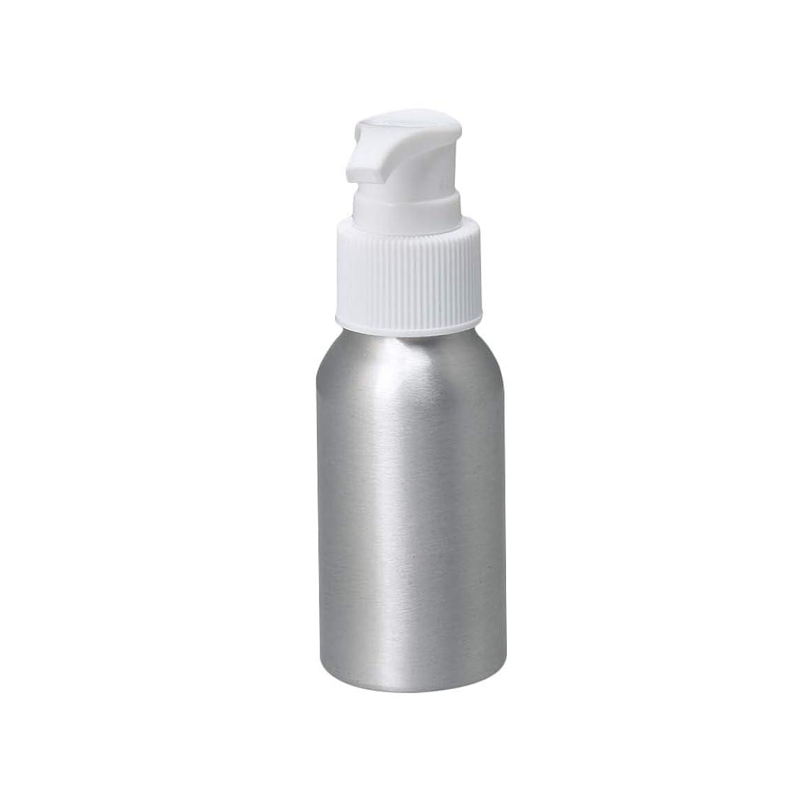 芸術的デマンド送信するポンプボトル 50ml コスメ用詰替え容器 詰め替え用ボトル アルミボトル 繰り返し使用 噴霧器 アルミボトル 白ポンプヘッド