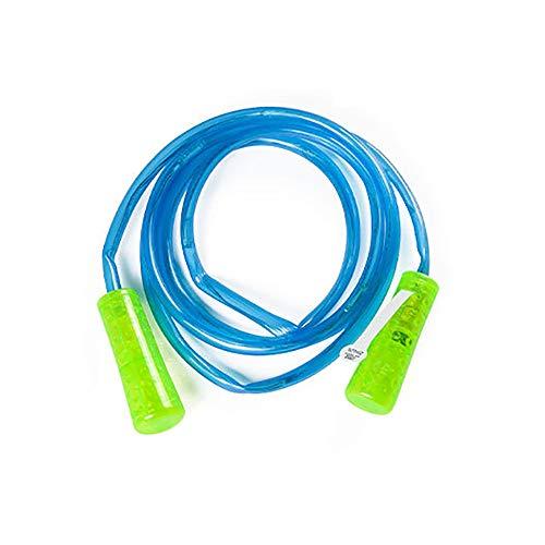 Hui Jin Springseil mit LED-Beleuchtung, buntes Fitness-Spielzeug, blinkendes Geschenk für Kinder, blau
