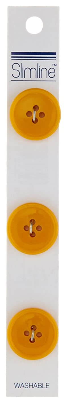 Slimline Buttons Series 1-Yellow 4-Hole 3/4-inch diameter