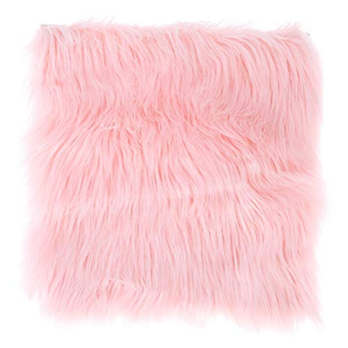 YBS Padsmall Area Rug Area Rugs - Faux Sheepskin Chair Cover Fleece Chair Cushion 3 Colors Warm Hairy Wool Carpet Non-Slip Seat Pad Long Skin Fur Plain Fluffy Area Rugs Washable Home Decor
