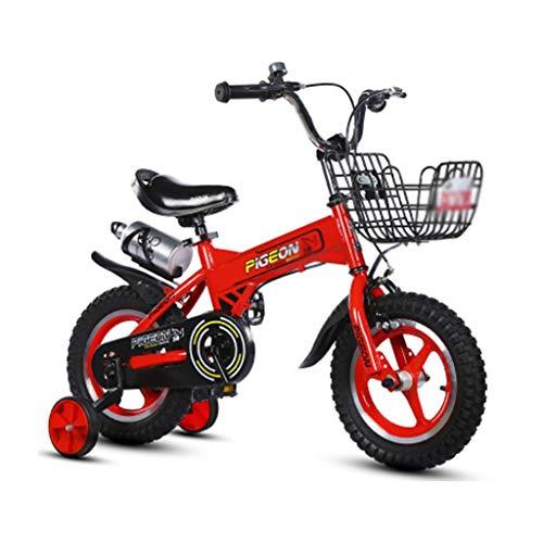 LJHSS Bicicletas para Niños Pequeños Bicicletas para Niños Bicicletas De 12, 14 Y 16 Pulgadas Bicicletas para Niñas De 2-3-4-6-7-8 Años Regalos para Niños De Niños (Color : Red, Size : 12INCHES)