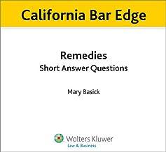 California Bar Edge: California Remedies Short Answer Questions for the Bar Exam