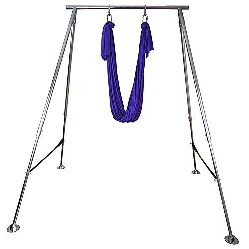 GNY Marcos de Swing de Yoga Hamaca de Yoga aérea Soporte de Acero Inoxidable de Longitud Larga Soporte Soporte Soporte de Altura Ajustable (Color : Stand and Hammock)