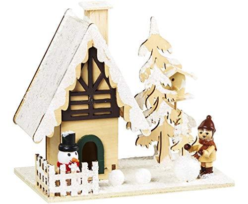 bb-10 Shop Räucherhäuschen aus Holz verschneites Räucherhaus für Weihnachten