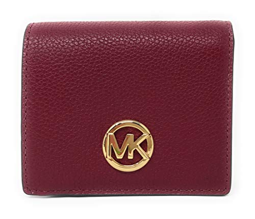Michael Kors Fulton Carryall Card Case Small Wallet (Mulberry)