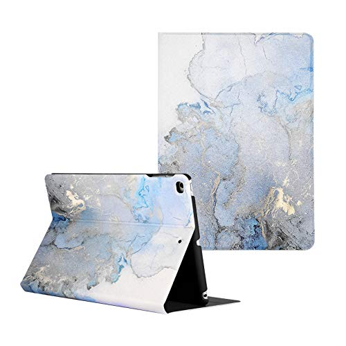 Artcase iPad Air/Air 2 Case, iPad 9.7 inch 2018/2017 Case, Marble Case PU Leather Stand Cover with Auto Wake/Sleep for Apple iPad Air 1/2, iPad 5th/6th Generation (Gold Map)