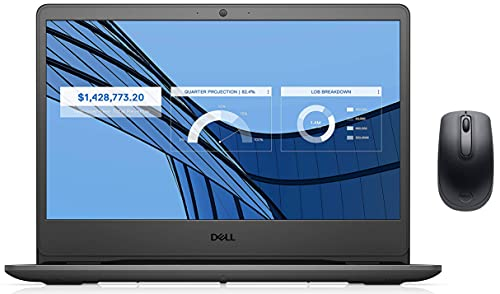 """Dell 14 (2021) Thin & Light i3-1005G1 Laptop, 4Gb RAM, 1TB HDD + 256GB SSD, 14"""" (35.56 Cms) FHD AG Display, Win 10 + MSO, Black (Vostro 3401, D552151WIN9BE)+Dell Wireless Mouse WM118"""