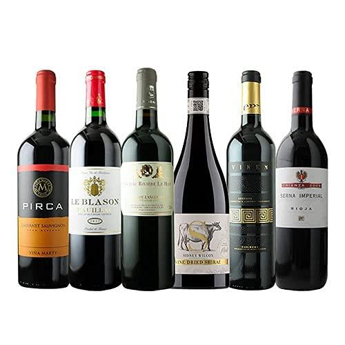ワインショップソムリエ ワンランク上のフルボディ赤ワイン6本セット(赤ワインのみ6本) 第34弾