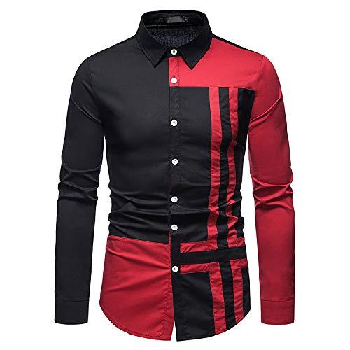 Camisa De Vestir De Manga Larga con Estampado De Rayas Entalladas A La Moda para Hombres Camisa Informal De Primavera Y OtoñO
