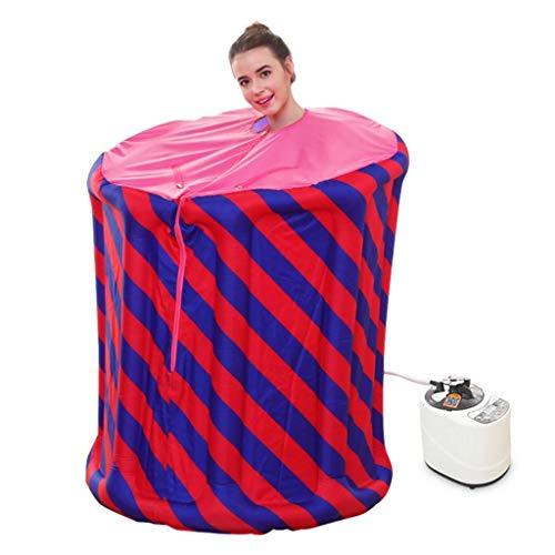 LICHONGUI Tragbare Sauna Zimmer 1000W mit Fernbedienung Dampftopf Multi-Mode-Einstellungsfunktion FUMATION Maschine Gewichtsverlust Entgiftung und Schönheit
