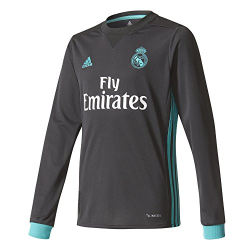 2017-2018 Real Madrid Adidas Away Long Sleeve Shirt (Kids)