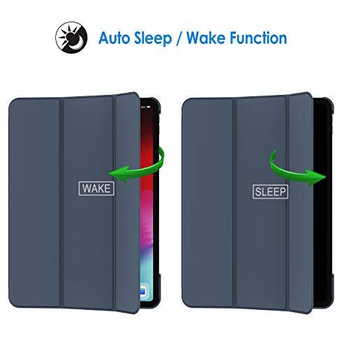 JETech Hülle Kompatibel iPad Pro 11 Zoll (Modell 2020/2018), Kompatibel mit Pencil, Intelligent Abdeckung Schlafen/Wachen, Navy Blau
