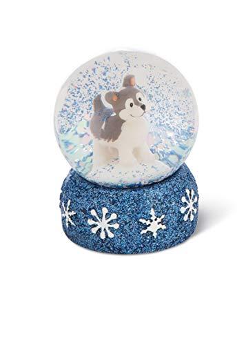NICI 45756 Schüttelkugel Husky Swante 6,5cm, süße Schneekugel mit Wintermotiv