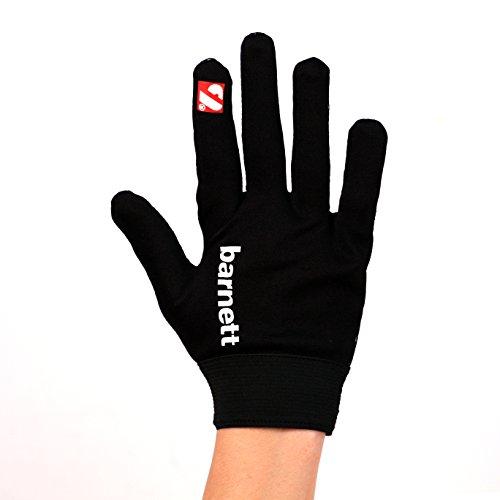 BARNETT FLGL-02 American Football Handschuhe Running, RE,DB,RB, Schwarz, (2XL)